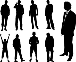 man collection vector silhouette
