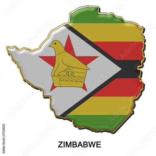 Zimbabwe metal pin badge