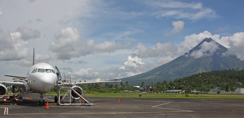 Legaspi airport with Mount Mayon