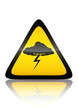 Symbole de danger orage (reflet métal)