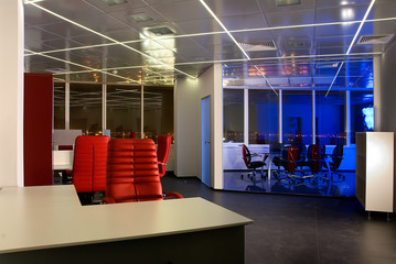 modern office at night