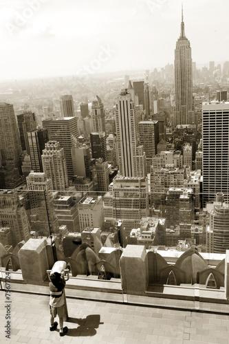 Child looking at midtown Manhattan