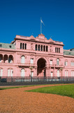 Pink house, official house of the president of Argentina. poster