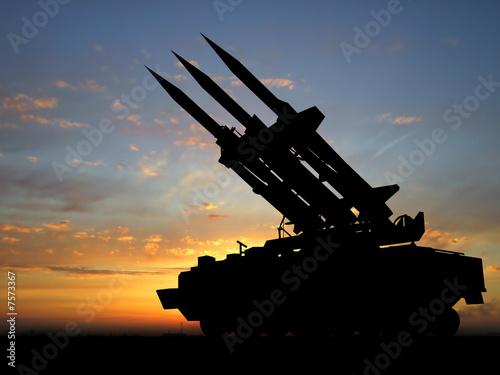 Leinwanddruck Bild missiles