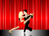 Latin Dancers on Stage poster