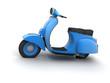 Vespa bleu 02