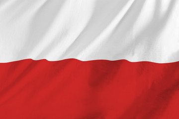 Flag of Poland waing in the wind