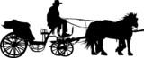 carriage silhouettes poster