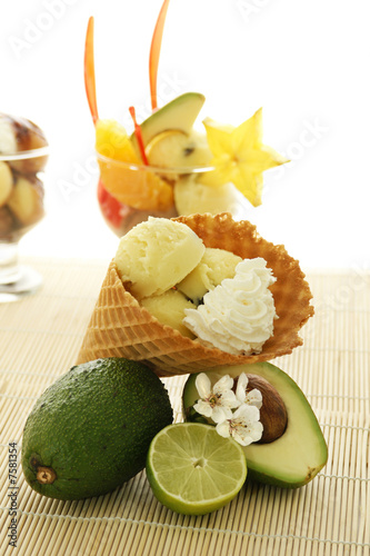 Fruit Ice Cream Cone