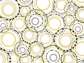 retro fun dotted circles pattern (vector) - illustration