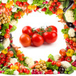 Healthy vegetable frame - tomatoes