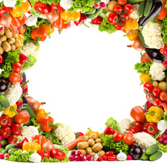 Circular vegetable frame
