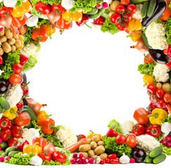 Circular vegetable frame
