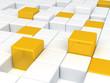 white and orange plastic cubes