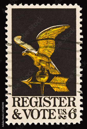 Register and Vote Postal Stamp 2