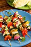 Tofu vegetable kebabs