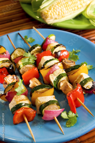 Tofu vegetable kebabs
