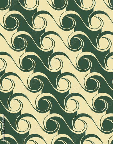 Seamless waves pattern in two colors