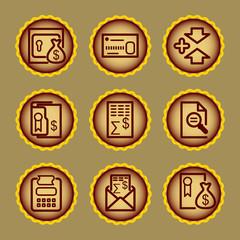 Brown contour web icons, set 14