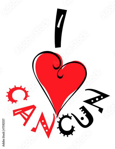 I love cancun logo