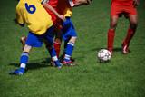 Fototapety Fussball Kampf um den Ball Jugend