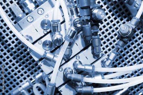 Leinwanddruck Bild Pneumatic system.