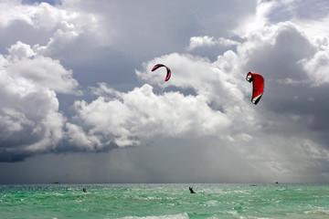 Kite boards, Boracay Island, Philippines