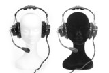 heads dummies with headphones poster