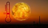 température élevé climat degrés pollution gaz paris respirer poster