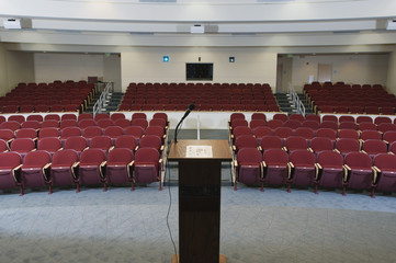Empty conference auditorium