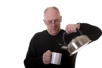 Old Guy Fixing Tea