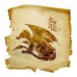 Dragon Zodiac icon, isolated on white background.