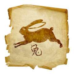 Rabbit  Zodiac icon, isolated on white background.