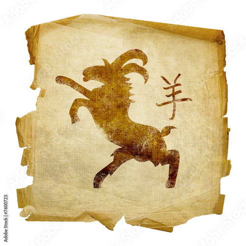 Goat  Zodiac icon, isolated on white background.