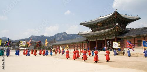 Leinwanddruck Bild Deoksugung Palace, Seoul, Korea