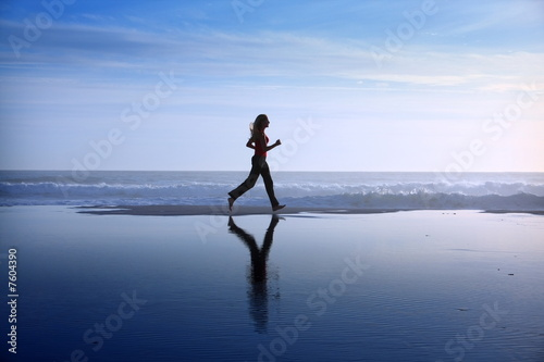 canvas print picture woman jogging