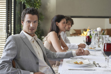Man at Dinner Party