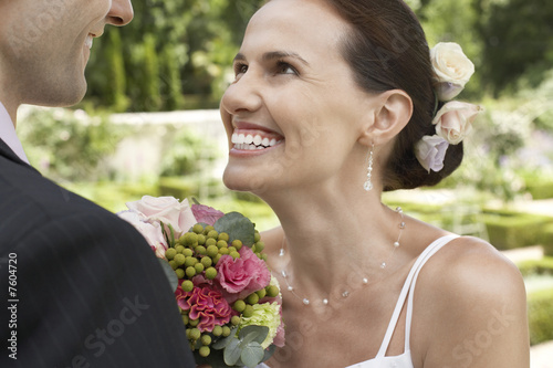 Happy Bride with Groom