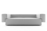 3d white sofa isolated on white background