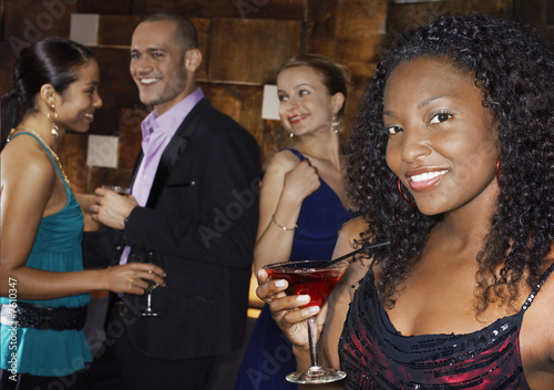 Young Woman at Bar