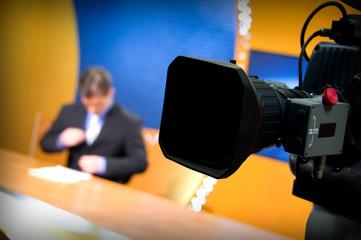 TV studio for news
