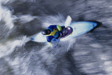 Kayaker Hitting the Rapids