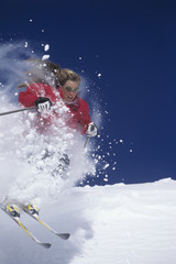 Skier Hitting the Slopes