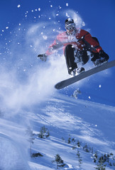 Snowboarder Hitting the Slopes