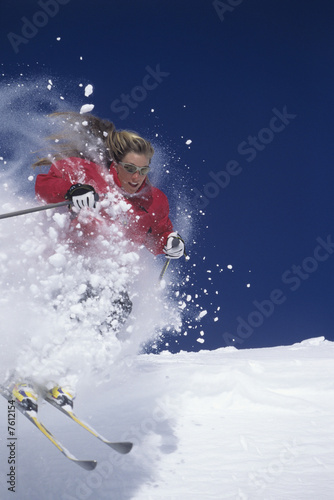 Skier Hitting the Slopes