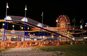 The beautiful light trails in a carnival