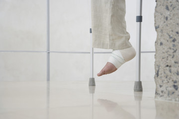 Man with Sprained Ankle