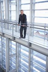 Businessman in Modern Building