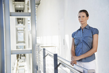 Businesswoman in Modern Building