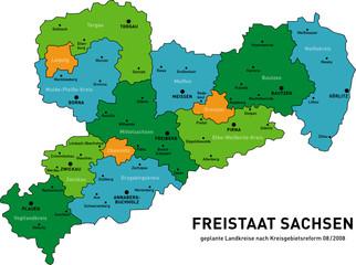 Freistaat Sachsen Landkreise2